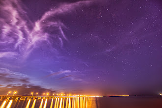 Photo: Street lights and starry nights  This is a long exposure from a few weeks ago. It was so great to be back in Virginia and see the stars again- It's one thing I really take for granted living in New York!  #starscape  #beachphotography  #longexposure