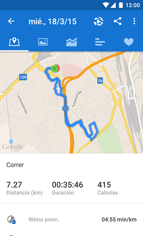 Runtastic PRO Running, Fitness: captura de pantalla