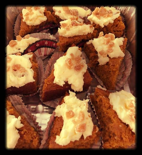 Pumpkin Ginger Cake W Frosting And Candied Ginger Recipe