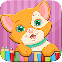Cat Coloring Book Paint Draw icon