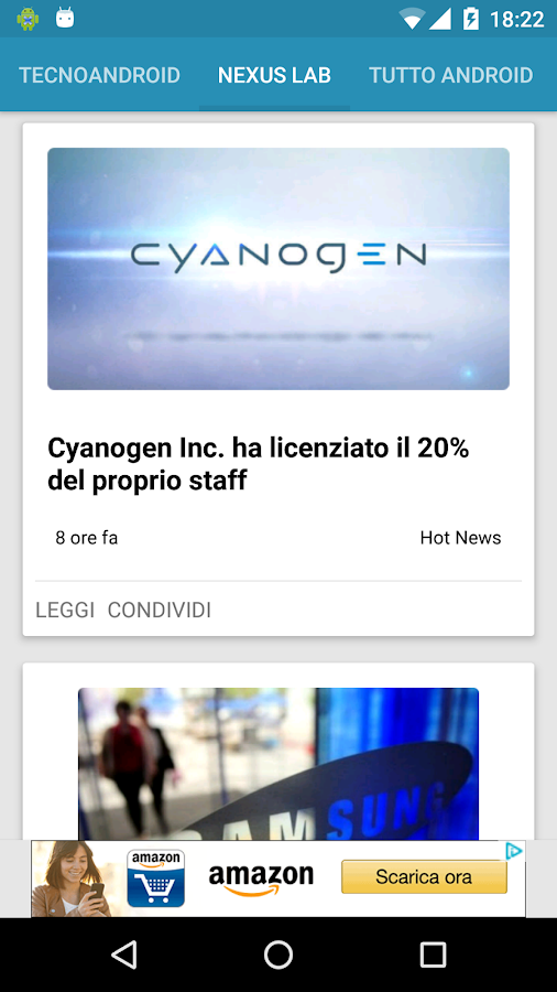 Notizie su Android™- screenshot