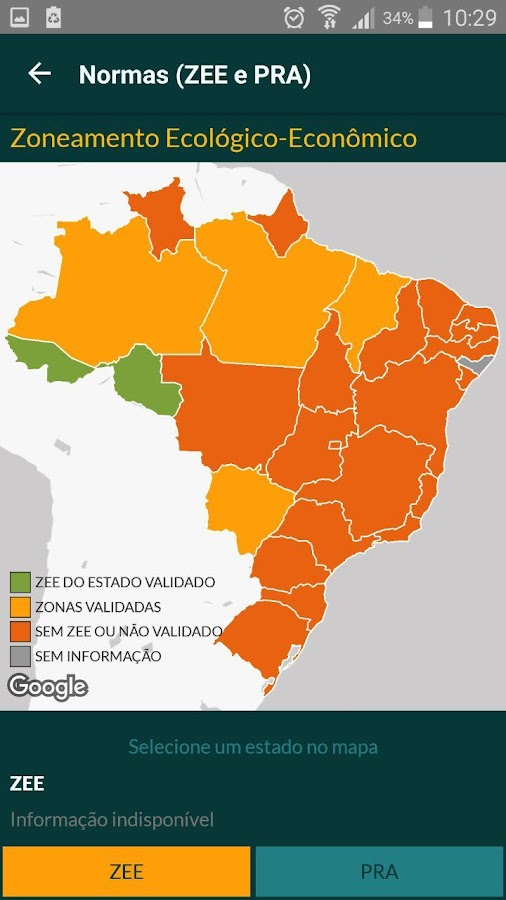 Termômetro do Código Florestal: captura de tela