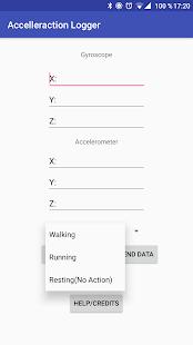 Acceleration Logger - náhled