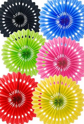 Dragdekoration, flera färger