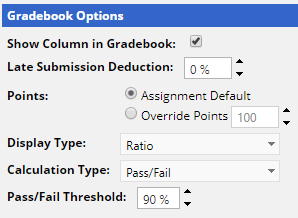 Pass/fail view when assigning course work