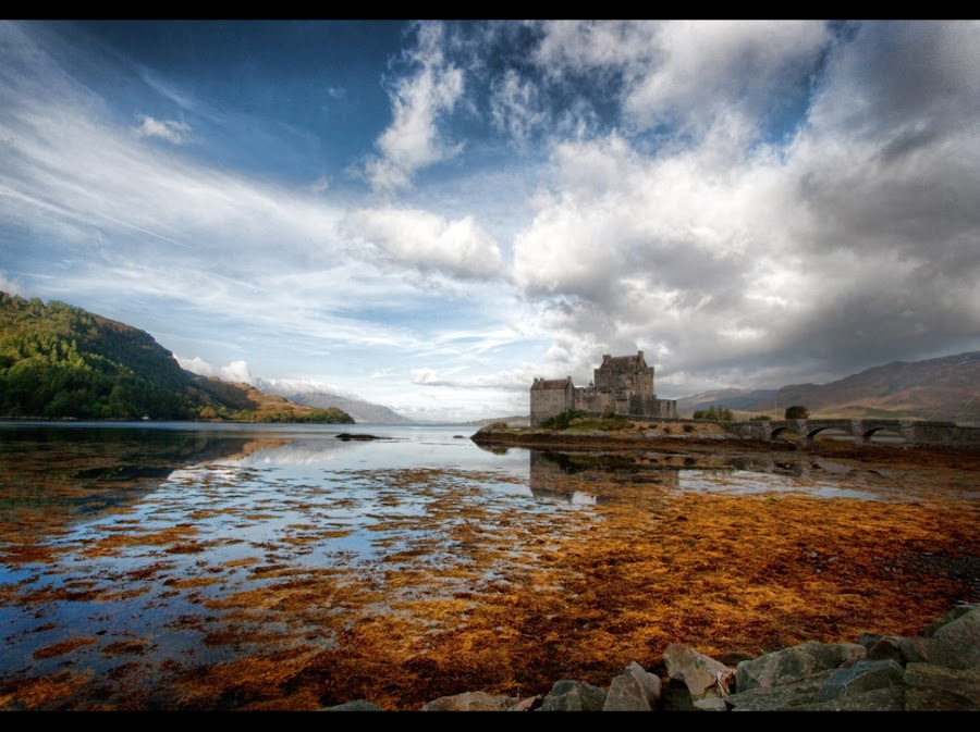 Scotland by Anita Callow - Landscapes Waterscapes ( scotland, dramatic, castle, sky clouds )