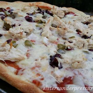 Picadillo Pizza with Instant Pot Chicken