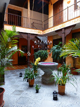Photo: Courtyard of Casa del Aguila hotel, our last day in Cuenca