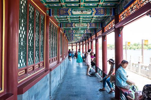 Beijing-temple - The corridor of the Summer Palace in Beijing.