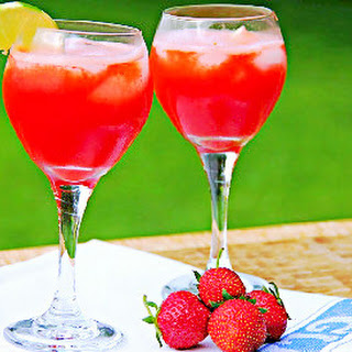 Strawberry Agua Fresca.