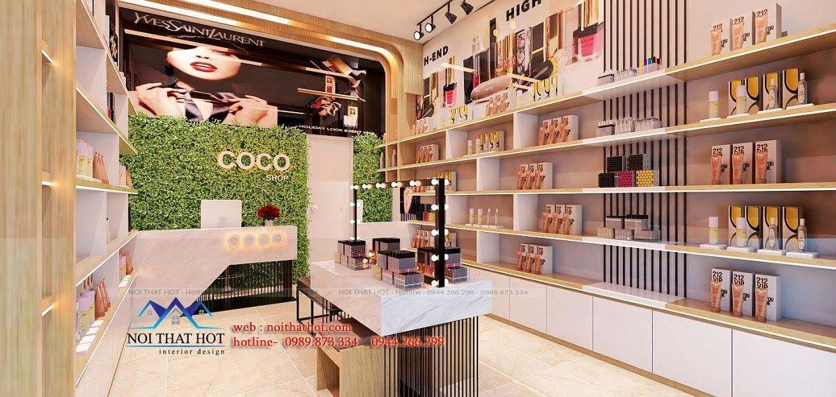 thiết kế shop mỹ phẩm coco 3
