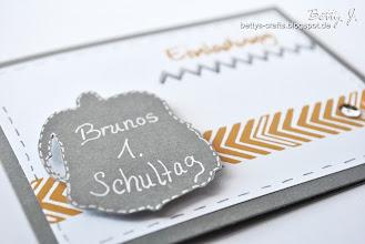 Photo: http://bettys-crafts.blogspot.de/2013/08/einladung-zu-brunos-1-schultag.html