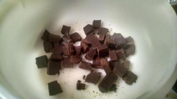 Melt chocolates; cool slightly.