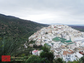Photo: the town of Moulay Idriss... at this point, you can see the Shrine of Moulay Idriss (green roof)