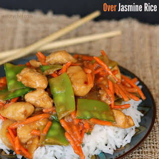 Ginger Soy Chicken over Jasmine Rice.