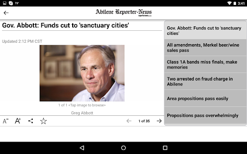 Abilene Reporter-News- screenshot thumbnail