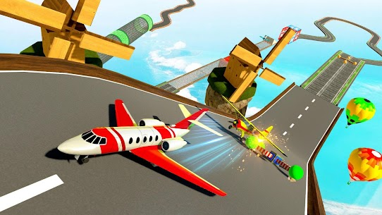 Airplane Stunts 3D: Extreme City GT Racing Plane 9