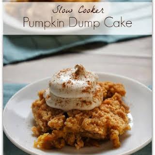 Recipe for Slow Cooker Pumpkin Dump Cake.