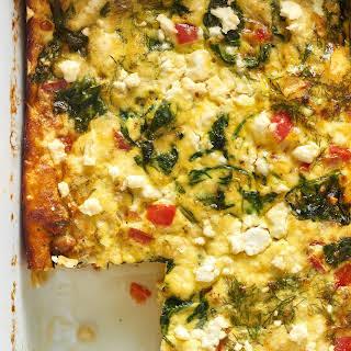 Make-Ahead Spinach and Feta Egg Casserole.