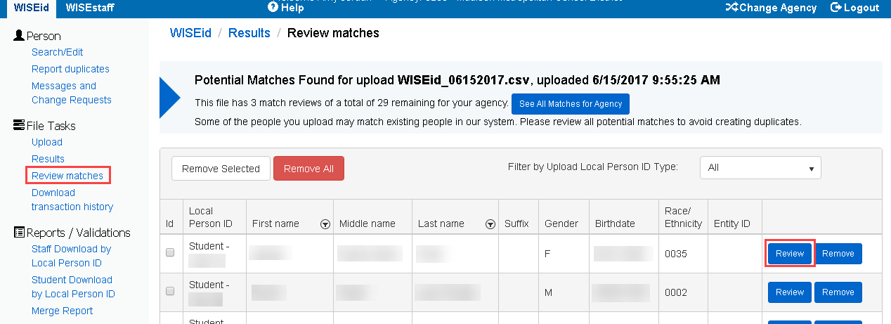 WISEid Review Matches.png
