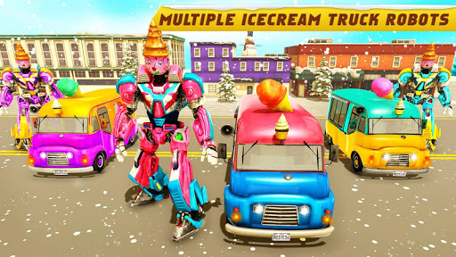 Ice Cream Robot Truck Game - Robot Transformation filehippodl screenshot 9