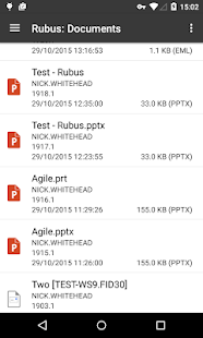 Rubus 'FileSite on Android' - náhled