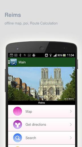 Reims Map offline