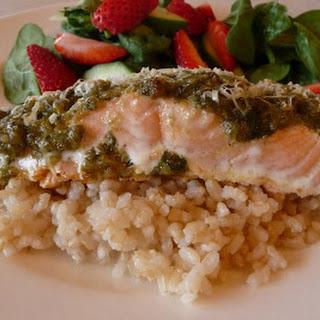Pesto-Parmesan Salmon Recipe