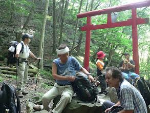 Photo: ここからが本格的な登山道