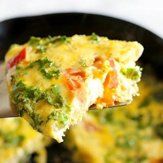 Kale & Feta Skillet Frittata in 15 Minutes
