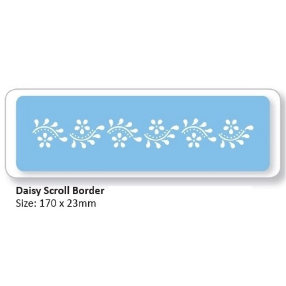 DAISY SCROLL BORDER