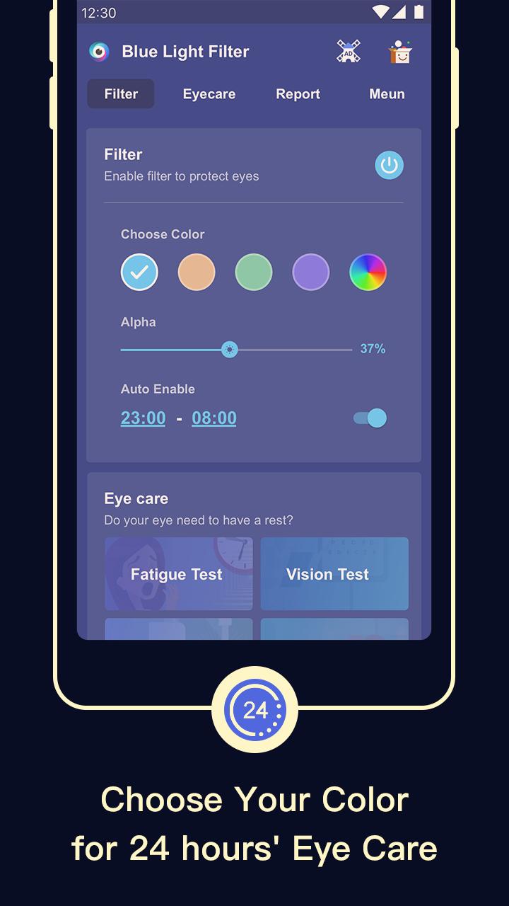 Blue Light Filter – Screen Dimmer for Eye Care Screenshot 2