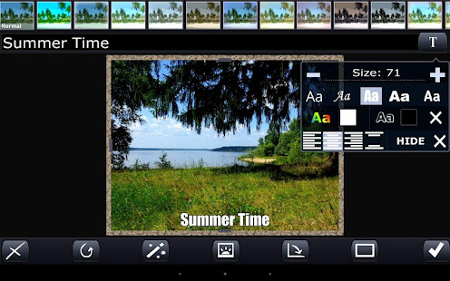 Photon. Photoeditor with text, crop and effects - náhled