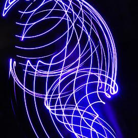 Intricate by Savannah Eubanks - Abstract Light Painting ( purple, woman, light )