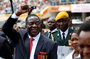 Zimbabwe president Emmerson Mnangagwa arrives ahead of his inauguration ceremony to swear in as president in Harare last November.