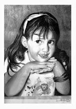 """Photo: Bruno Steinbach. """"A Filha de Caitano"""". Crayon/papel cançon, 40 x 30 cm, 2005, Parahyba, Brasil.  Coleção: José Caitano de Oliveira, JP/PB."""