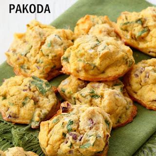 Mung Dal Fritters - Baked Moong Dal Pakoda.