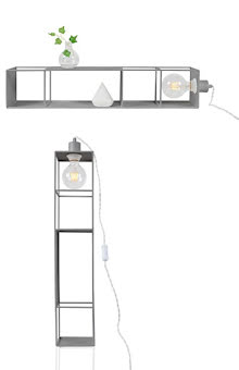 Globen Lighting Shelfie Long Vägglampa Mattgrå 70 cm - lavanille.com