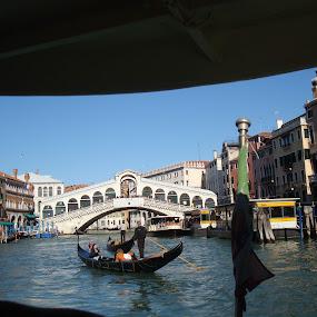 Bridge in Venice by Yury Tomashevich - Buildings & Architecture Bridges & Suspended Structures ( water, gondola, venice, bridge, bridges, italy,  )