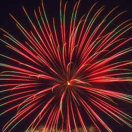 by Susan Campbell - Abstract Fire & Fireworks