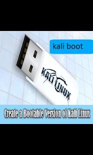 kali linux setup usb bootable - náhled