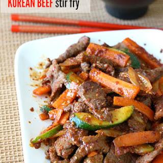Korean Beef Stir-Fry with Vegetables.