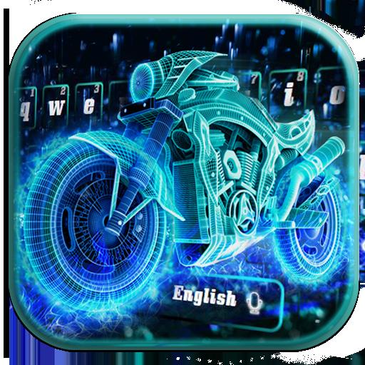Neon Sportsbike Luxury Keyboard