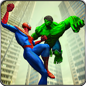 Batalha Incrível da Monster vs Spiderhero City