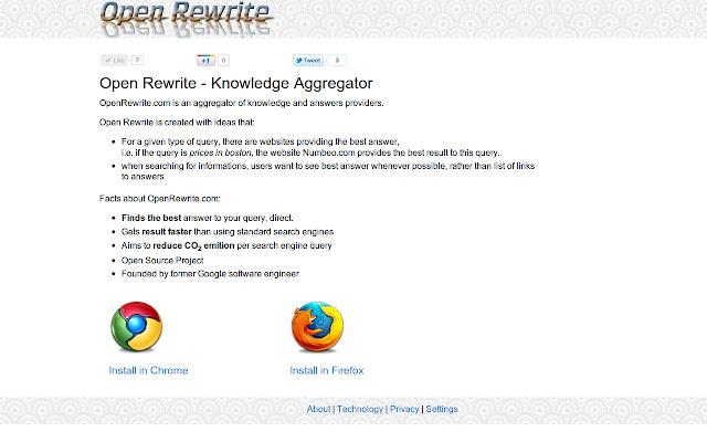 Open Rewrite Chrome Extension
