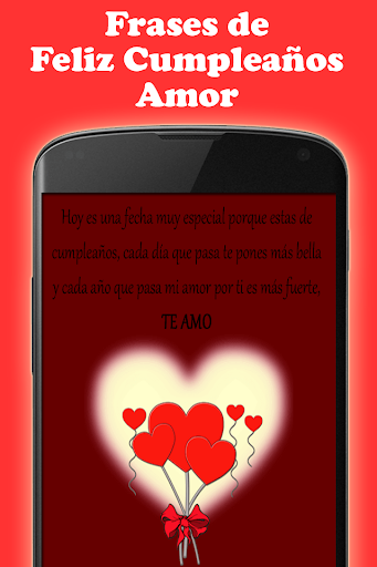 скачать Frases Feliz Cumpleaños Amor Google Play Softwares