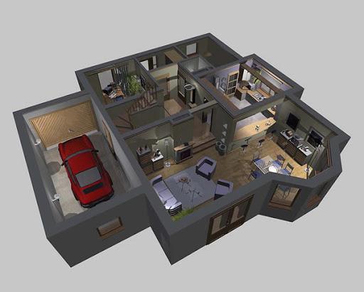 APS 071 - Rzut parteru 3D