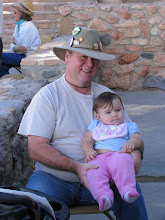 Photo: Death Valley '49er member Doug Price and his daughter enjoy the music at Stovepipe Wells.