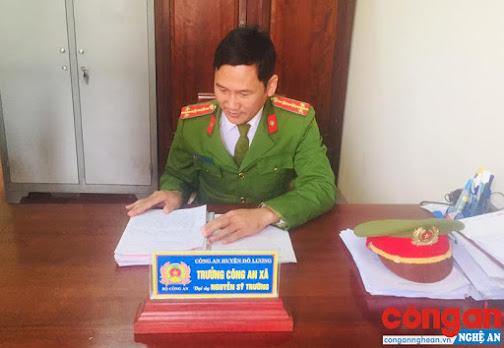 Đại úy Nguyễn Sỹ Trường, Trưởng Công an xã Đặng Sơn