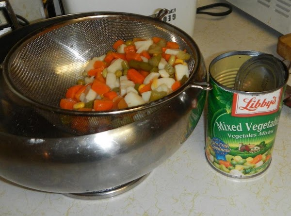 Draining and rinsing  the veggies, of the canned juice.
